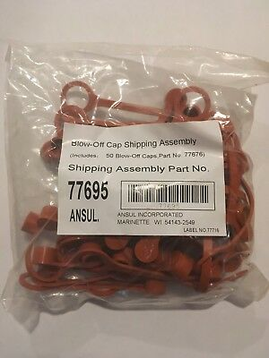 ansul r102 rubber caps 50 pack (new)
