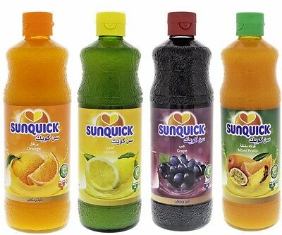 2 Bottles of Sunquick Fruit Juice Concentrate (choose from 4 types)