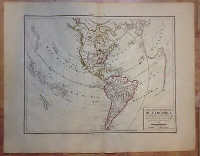 AMERICA NEW ZEALAND 1818 by MENTELLE & CHANLAIRE LARGE COPPER ENGRAVED MAP