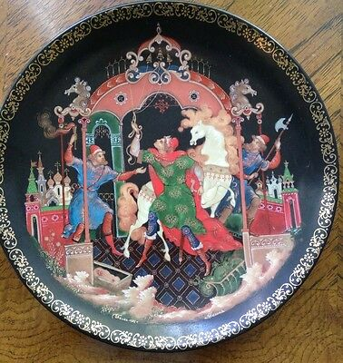 Vintage Tianex Russian Legends #5 Limited Ed. The Golden Bridle Firebird Plate