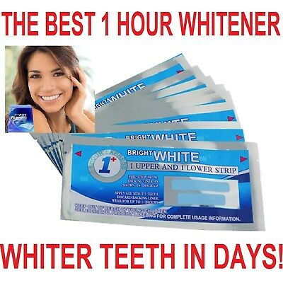New One Hour Bright White Professional Teeth Whitening Strips