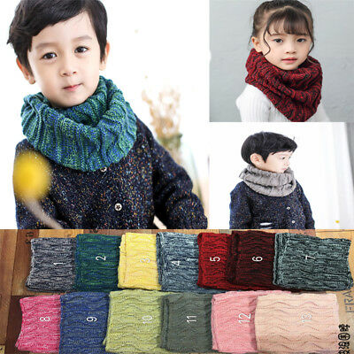 Baby Kids Warm Knit Scarf Collar Boy Girl Child Shawl Neckerchief Scarves Winter