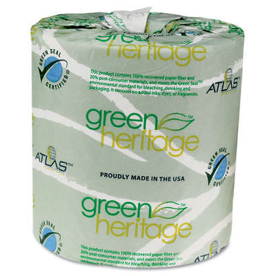 Atlas Paper Mills Green Heritage Toilet Tissue, 4 1/2 X 3 1/2 Sheets, 2-Ply, 500