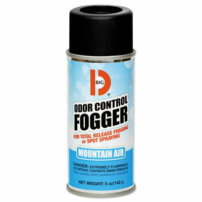 Big D Industries Odor Control Fogger, Mountain Air Scent, 5 Oz Aerosol, 12/carto