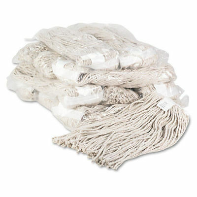 Boardwalk Premium Cut-End Wet Mop Heads, Cotton, 20oz, White, 12/carton  220CCT