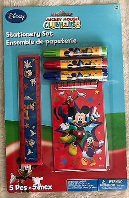 Disney Stationary Set, Mickey Mouse Club House. 5 Piece, Non Toxic