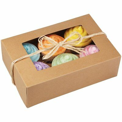 Wilton 415-0740 6-Cavity Kraft Cupcake Party Gift Box 2-Pack - Candy Cookies