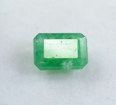 Fantastic 3.25 Ct Emerald Shape EGL Certified Green Emerald Loose Gemstone