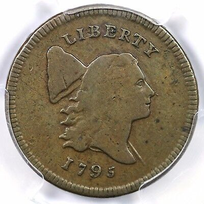 1795 C-1 R-2 PCGS F 15 Lettered Edge Liberty Cap Half Cent Coin 1/2c