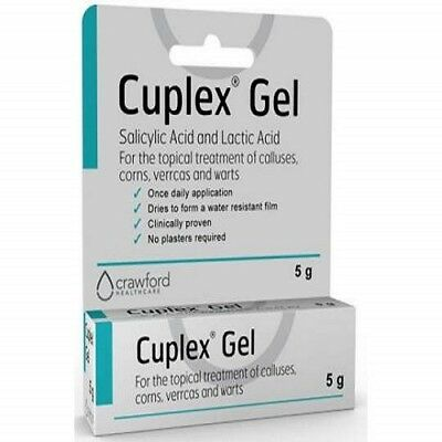 5g Cuplex Verruca Treatment Gel Fast Effective Corns Wart Calluses Removal