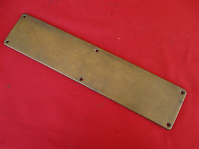 "Vintage YALE 16"" Solid Brass Door Push Plate Antique Hardware Restoration LOOK"