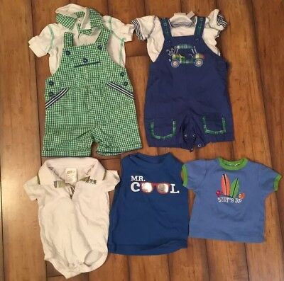 First Impressions/ Crazy 8 baby boy outfits  6-12 Months BUNDLE of 5