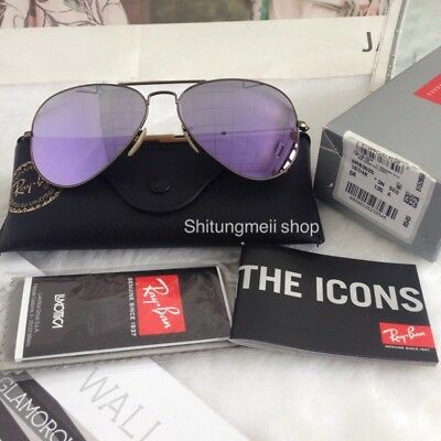 b0e4d32adbb6 Ray-Ban Aviator Flash Lenses RB3025 167 4K 58mm Bronze-Copper Frame Lilac