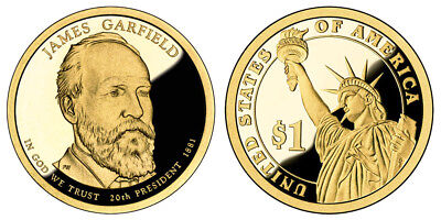 2011 - S  (Proof) James A Garfield Presidential Dollar
