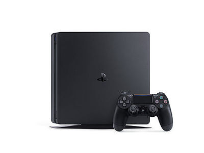 Sony PlayStation 4 Slim 500 GB Jet Black Console with NBA2k17 & Uncharted 4