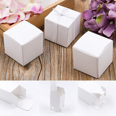 50pcs/Lot Paper Square Chocolate Candy Boxes Wedding Birthday Party Gift Box Bag