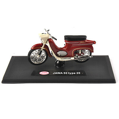 1:18 Diecast Red JAWA 50 TYPE 20 Classic Autobike Model MotorCycle Toy