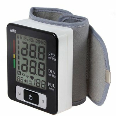 Digital LCD Wrist Cuff Arm Blood Pressure Monitor Heart Beat Meter Machine XJ