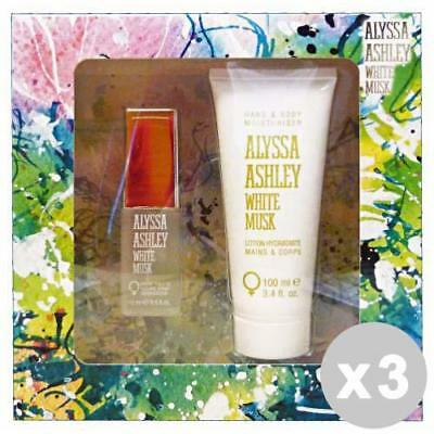 ALYSSA ASHLEY Set 3 weißes Moschus Gift Box edt 15 ml + 100 ml Lotion.