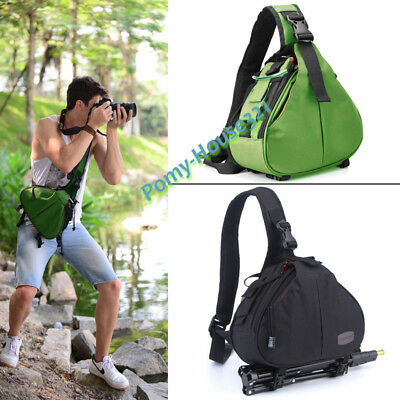 Waterproof DSLR SLR TLR Camera Bag Shoulder Tripod Carry Case for Canon Nikon UK