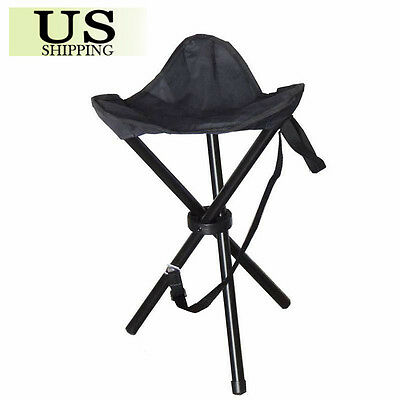 LARGE Slacker Chair Folding Portable Travel Tripod Stool Outdoor Camping Fishing