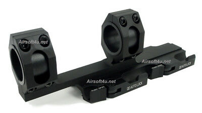QD Scope Extended Rings Mount Top Rail 30mm 1 inch Ring Recon Auto Lock In Black
