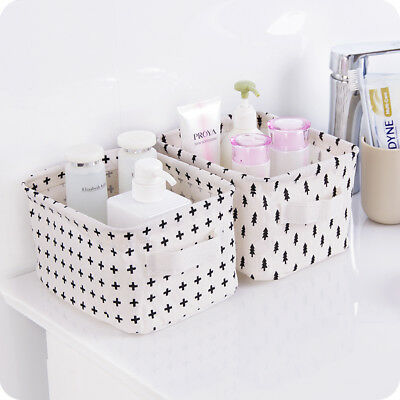 1Pc High Quality Cotton Line Storage Basket Underwear Cosmetic Jewelry Container