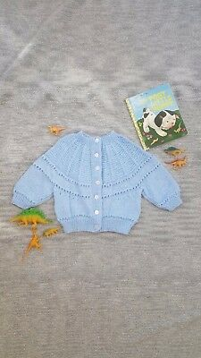 VINTAGE STYLE Baby cardigan HANDMADE knit jumper