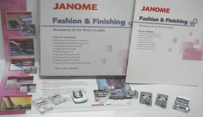 Janome Fashion and Finishing Accessory kit for 9mm machines