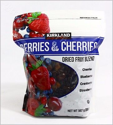 Kirkland Berries & Cherries Dried Fruit Blend 20oz Resealable Bag Free Shipping