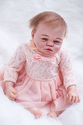 """REBORN  BABY Girl  20"""" Life Like Truly Real NEWBORN Doll with Blue Eyes 75R1"""