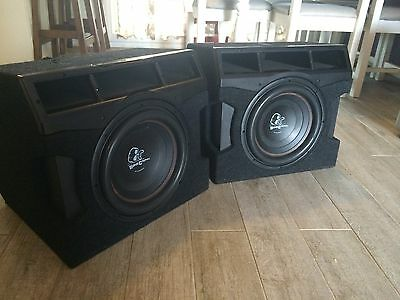 2x12 Inch Bone crusher Subs And 2 Amps