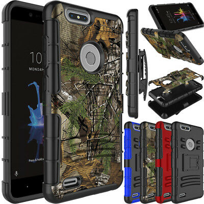 For ZTE Blade Z Max/Z982/Sequoia Phone Case Hybrid Clip Holster Stand Hard Cover