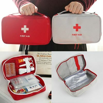 Canvas + Nylon First Aid Kit Bag Home Small Medical Box Emergency Survival Bag