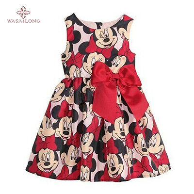 Minnie Mouse Dress Disney Baby Polka Girl Toddler Party Pink Tutu Skirt Custom