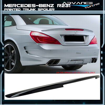 12-14 PAINTED BLACK CLEARCOAT 040 BENZ SL-Class R231 A style TRUNK BOOT SPOILER