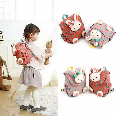 Cute Animal Rabbit Anti-lost Baby Backpack Toddler Kids Girls School Bag AU