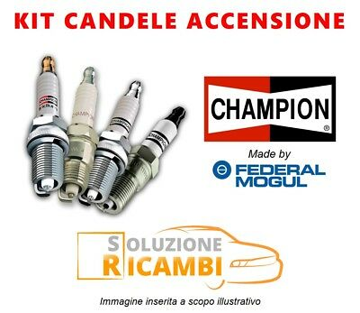 Kit 4 Candele Champion Fiat Stilo '01-'06 1.6 16V 76 Kw 103 Cv
