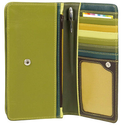 Mywalit Purse Medium Matinee Green Leather Ladies Wallet & Pen 237 105
