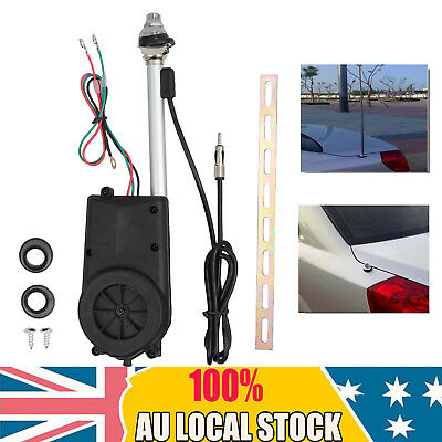 Car Electric Aerial Radio Automatic Booster Power Antenna Kit Black 12V