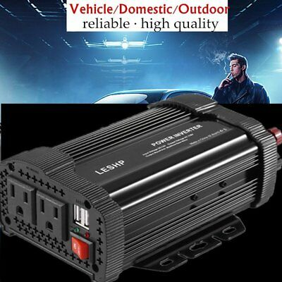 4000W Max 2000W Power Inverter Sine Wave DC 12V to AC 110V Power Display O8