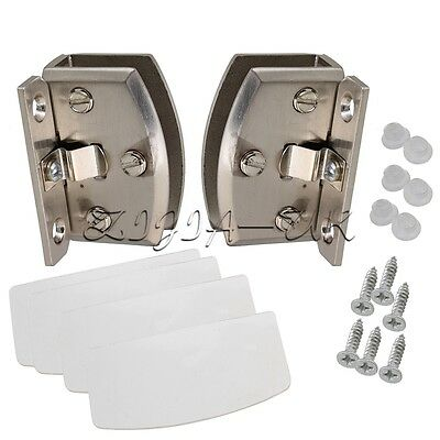 90C Side Mount Glass Door Cupboard Cabinet Clamp Hinge for 8-10mm Thickness