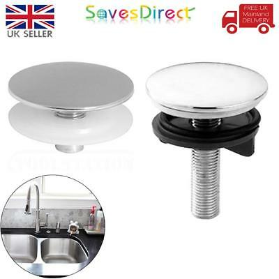Brand New 45mm & 55mm Chrome Kitchen Sink Basin Tap Hole Covers/ Stoppers