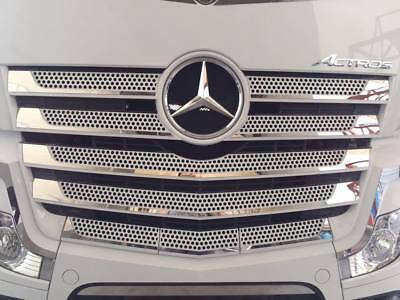 S.steel For Mercedes Benz Actros Mp4 Chrome Front Grill 11Pcs
