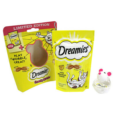 Dreamies Snacky Mouse Snack Filled Toy & Cheesy Treats For Cats Mega Pack Bulk