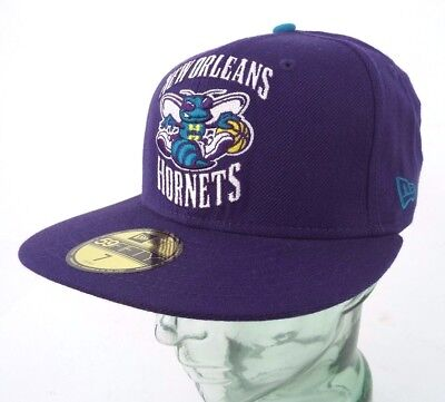New Orleans Hornets New Era Cap 59Fifty Purple - Sizes 7 & 7 3/8
