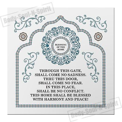 English home Blessing Success Prosperity MAGNET Israel Judaica Evil Eye Lucky