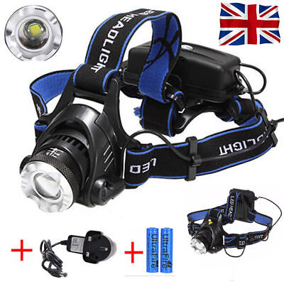 2000LM Cree XML T6 LED 3 Mode Front Head Lamp Torch Headlight Rechargeable Light
