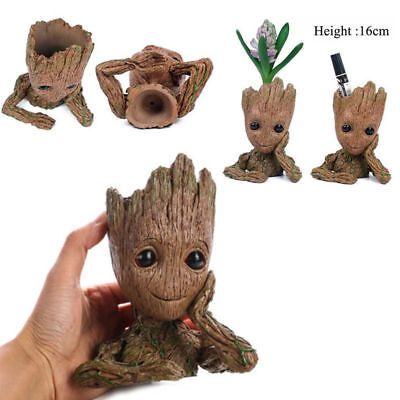 "Guardians of The Galaxy Vol. 2 Baby Groot 6"" Figure Brush Pot Flowerpot Xmas Toy"