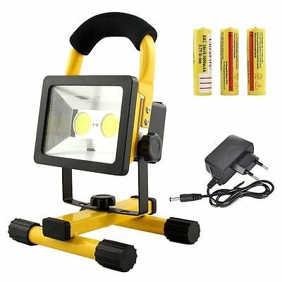 LED COB 30W Rechargeable Portable Outdoor Camping Flood Light Spot Work Lamp